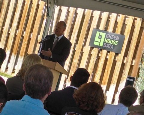 Governor Mead Speaking at Green House Data
