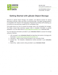 Getting Starting with gScale Object Storage