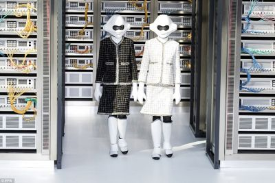 Chanel put fashion robots in a data center for a show