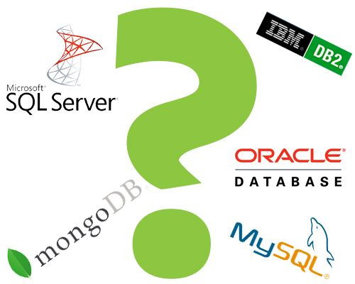 popular databases include Microsoft SQL, MySQL, MongoDB, IBM DB2, and Oracle