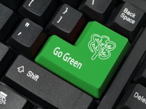 Go Green enter key on a keyboard