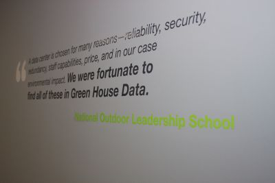 customer quote on the wall in the new data center