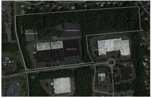Map of growing data center hub in Orangeburg, NY