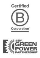 B corp and EPA Green Power Partner badges
