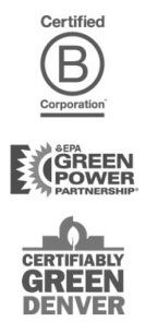 B Corp, EPA Green Power Partner, & Certifiably Green Denver