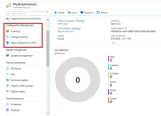 azure automation configuration management
