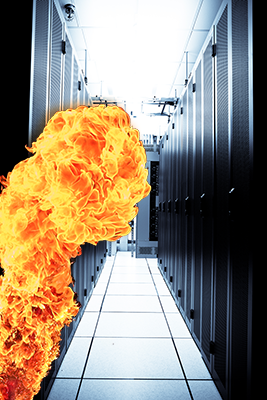 Avoiding Damage Or At Least Downtime from a Data Center Fire  Avoiding Damage...
