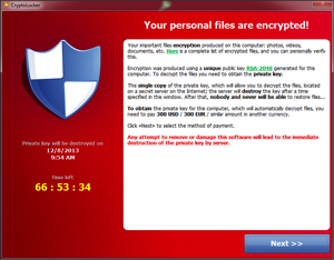 Ransomware will encrypt your files until you pay up