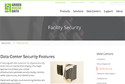 Green House Data's facility security