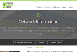 Green House Data's Network Information